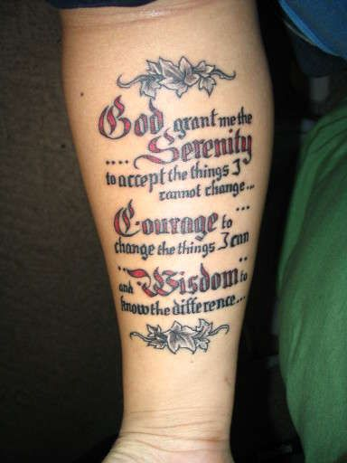 serenity prayer tattoo 30