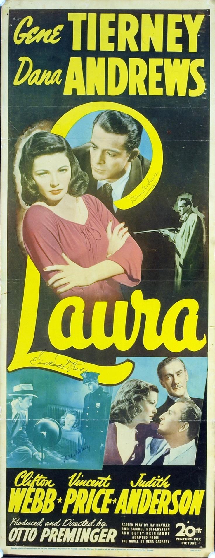 Laura (1944) gene #tierney Dana #andrews