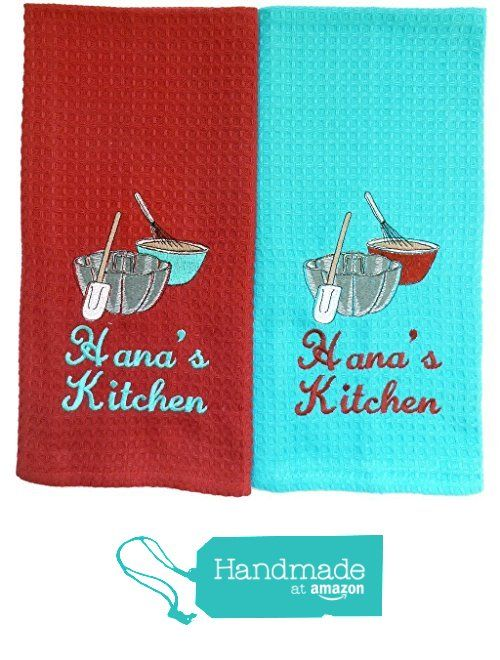 Custom Embroidered And Personalized Waffleweave Kitchen Towels With  Mirrored Image Baking Embroidery Design   Red And Turquoise From Initial  Impreu2026 Part 60