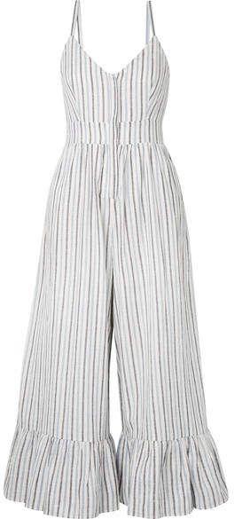 Striped summer jumpsuit