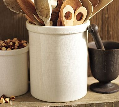 Rhodes Ceramic Crock, Large WANT The Large One For My Kitchen Tools
