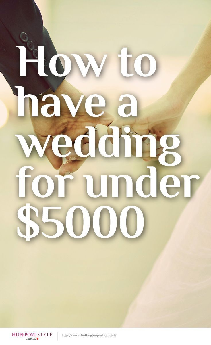 How to have a wedding for under $5000 http://huff.to/1kH1lV2