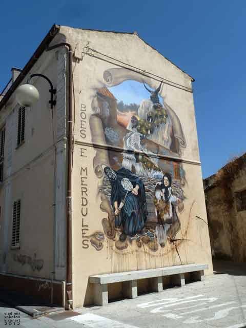 Ottana, Sardinia - #street, #art, depiction of #sardinian, #rituals, #boes, & #merdules