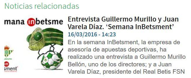¡Interesante reflexión sobre el Fútbol Sala en Andalucía, de la mano del presidente del Real Betis FSN, e InBetsment!    http://www.realbetisbalompie.es/es/noticias/real-betis-fsn/6594/entrevista-guillermo-murillo-y-juan-varela-diaz-se