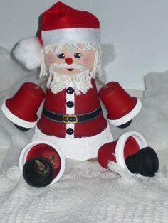 Clay Pot Santa Claus
