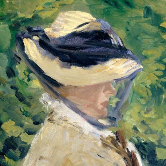 Madame Manet at Bellevue (detail) ~ Edouard Manet