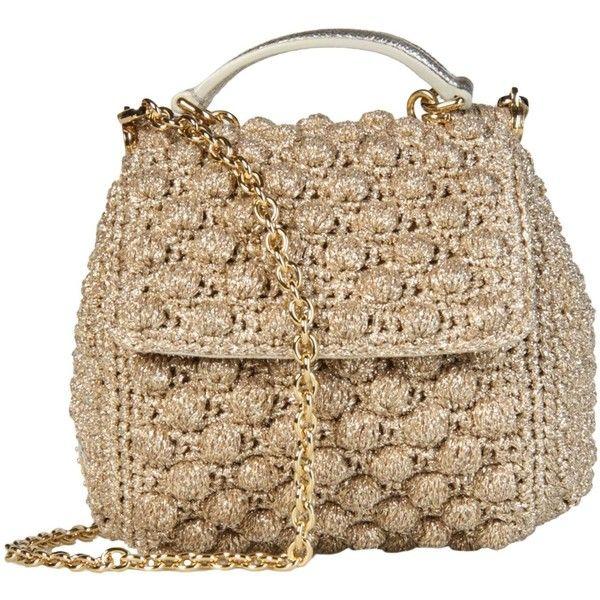 DOLCE GABBANA Across-body bag...crochet effect