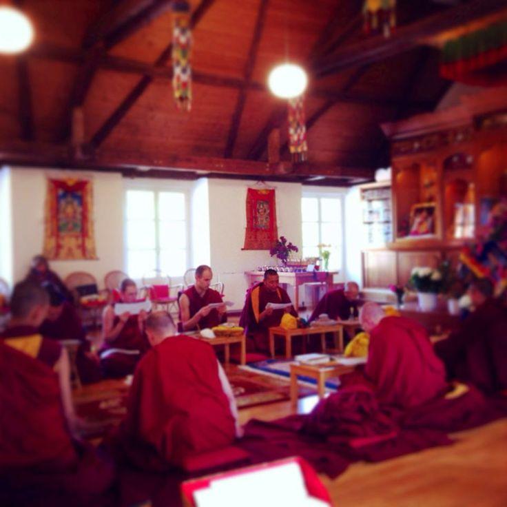 Medicine Buddha Prayer — at Tashi Rabten Monastery.