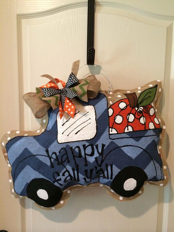 Pumpkin truck....Happy Fall Y'all burlee hanger