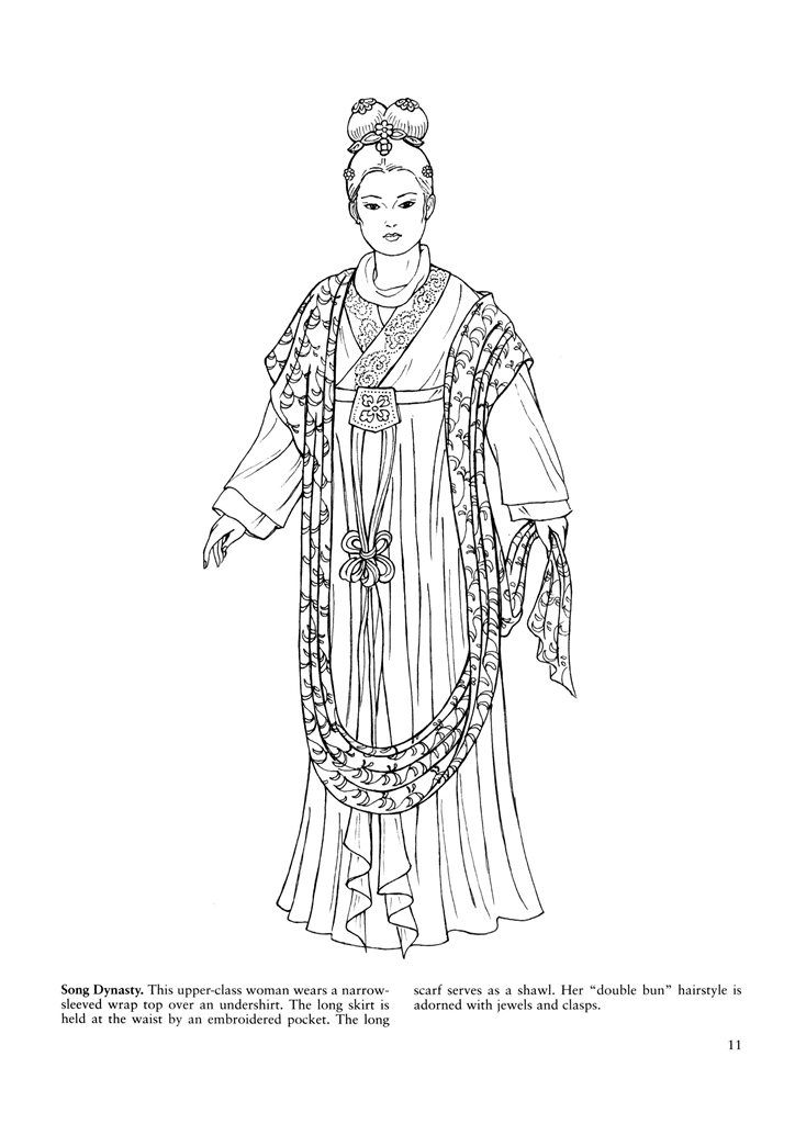 Song Dynasty 宋代  Figure drawing with cultural costume