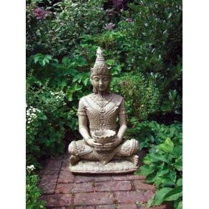 The Serene Buddha Statue   A Beautifully Detailed Statue Which Sits Well On  A Patio Or