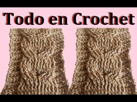Trenza en crochet - YouTube