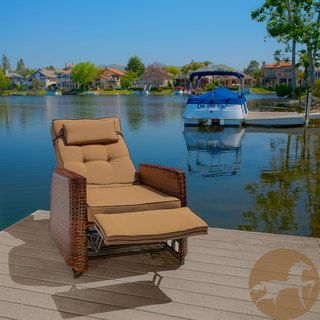 Christopher Knight Home Brown Wicker Outdoor Recliner Rocking Chair | Overstock.com Shopping - Big Discounts on Christopher Knight Home Sofas, Chairs & Sectionals