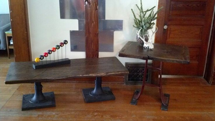 17 best images about industrial furniture designs on for 100 year old oak table