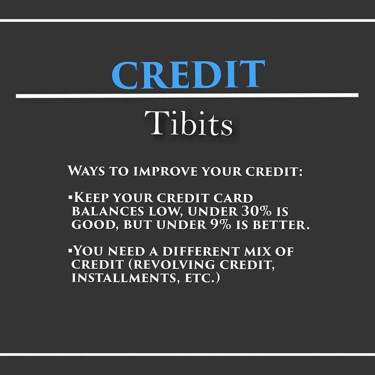 Credit tibits ways to improve your credit score credit