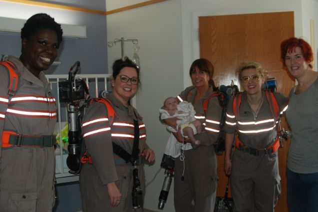 New GhostbustersCast Visits Children's Hospital; Attracts Trolls