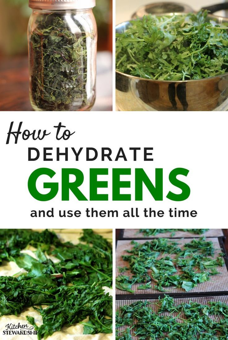 Preserve spring greens like kale, spinach, chard, collards, and other greens? Dehydrating is the easiest process imaginable PLUS make your own DIY homemade green powder to add to smoothies. #gardening