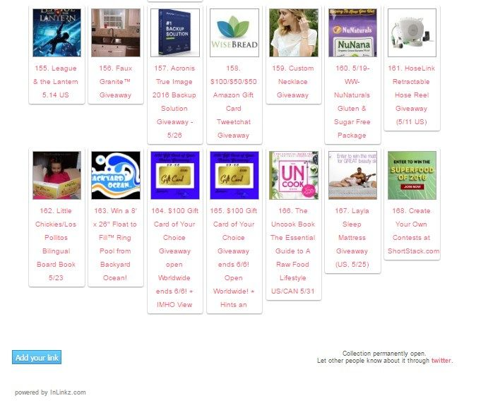 I'd like to invite you to list your giveaways here on our shared giveaway linky.