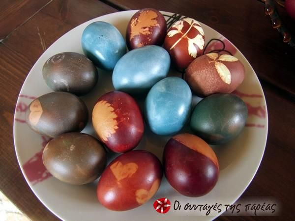 Easter eggs naturally dyed #cooklikegreeks #eastereggs #easter