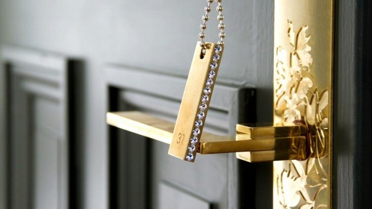 Lovely key and door handle @Görvälns Castle Hotel, Stockholm, Sweden.