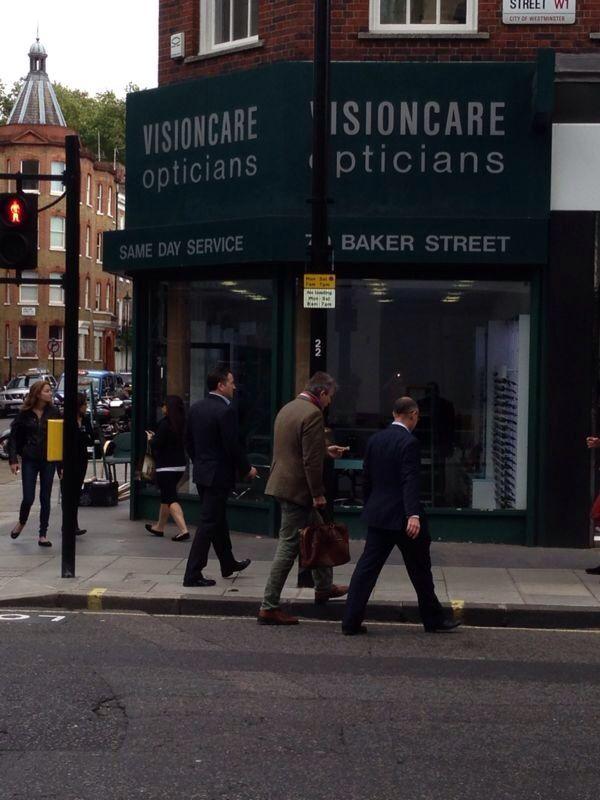 A shop front that was re-coated in Baker Street London  #shopfront #bakerstreet #spraypaint http://www.vandacoatings.co.uk/