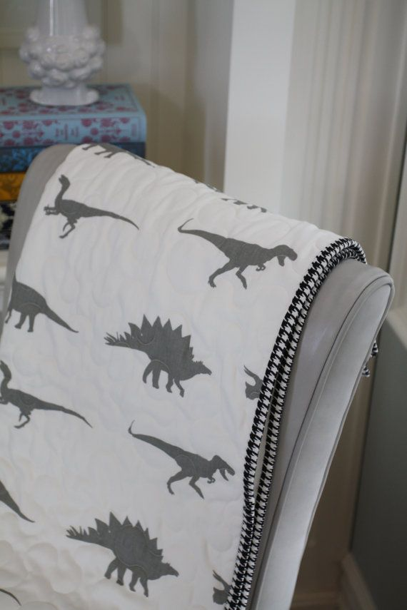 sweet dino quilt / etsy $45