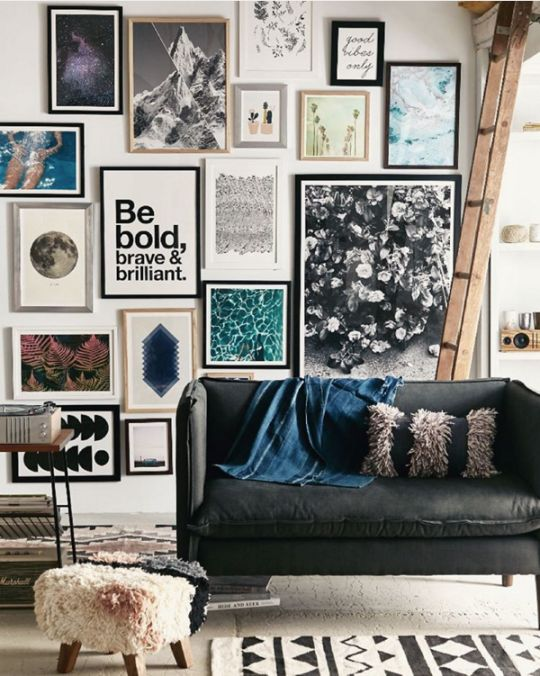 Picture wall via Urban Outfitters