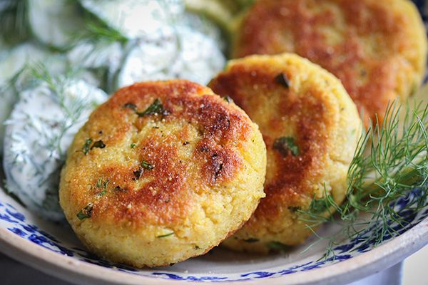 Vegane Kartoffel-Couscous-Taler
