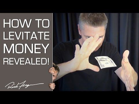 Tryllekunst - sådan får man en pengeseddel til at svæve