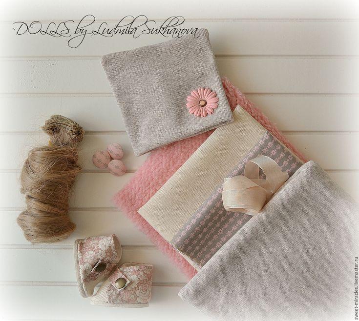 Купить Набор для самостоятельного пошива куколки 114 - бежевый, персиковый, набор, набор тканей