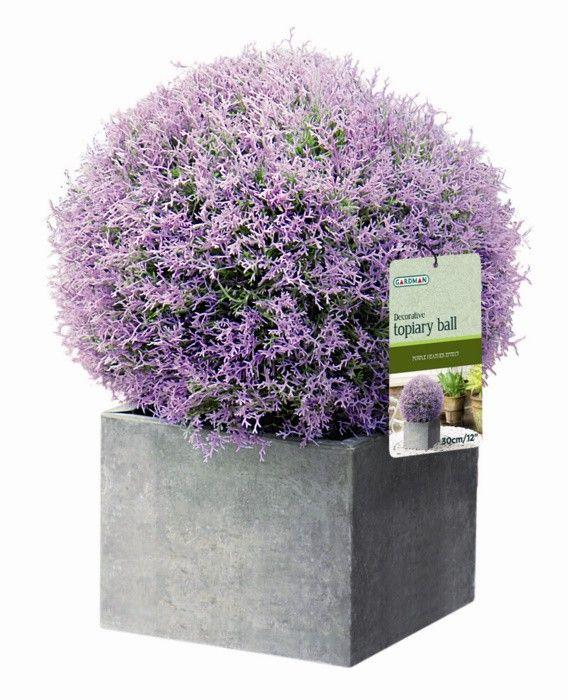 Purple Heather Effect Artificial Topiary Ball by Gardman