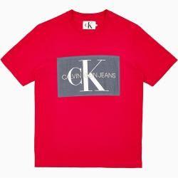 Calvin Klein T Shirt Mit Monogramm Logo Xl Extra Sale Calvin Klein In 2020 T Shirt Manner T Shirt Und Monogramm