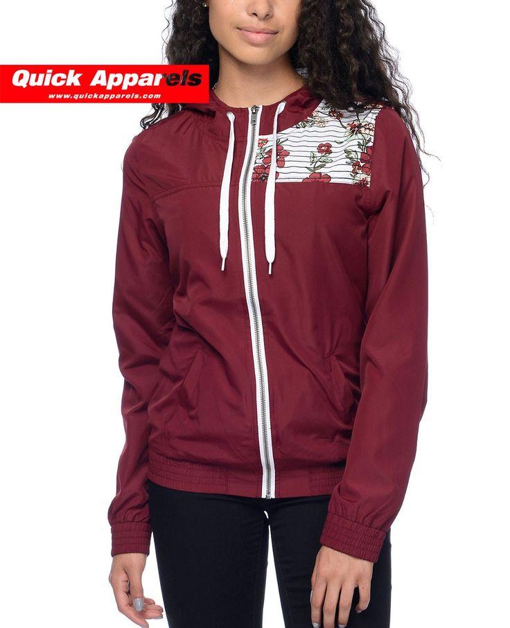 http://www.quickapparels.com/best-selling-women-burgundy-floral-striped-lined-windbreaker-jacket.html