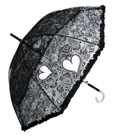 Look what I found on #zulily! Black Lace Parasol Umbrella - Adult #zulilyfinds #goth #lolita