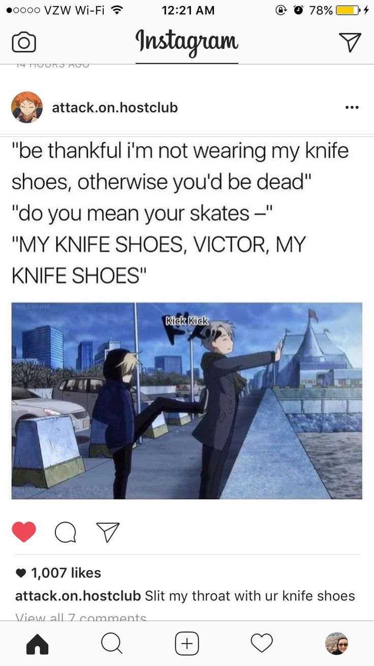 I was talking to my friend about yoi and we talked about yurio's knife shoes and if that isn't friend goals idk what is