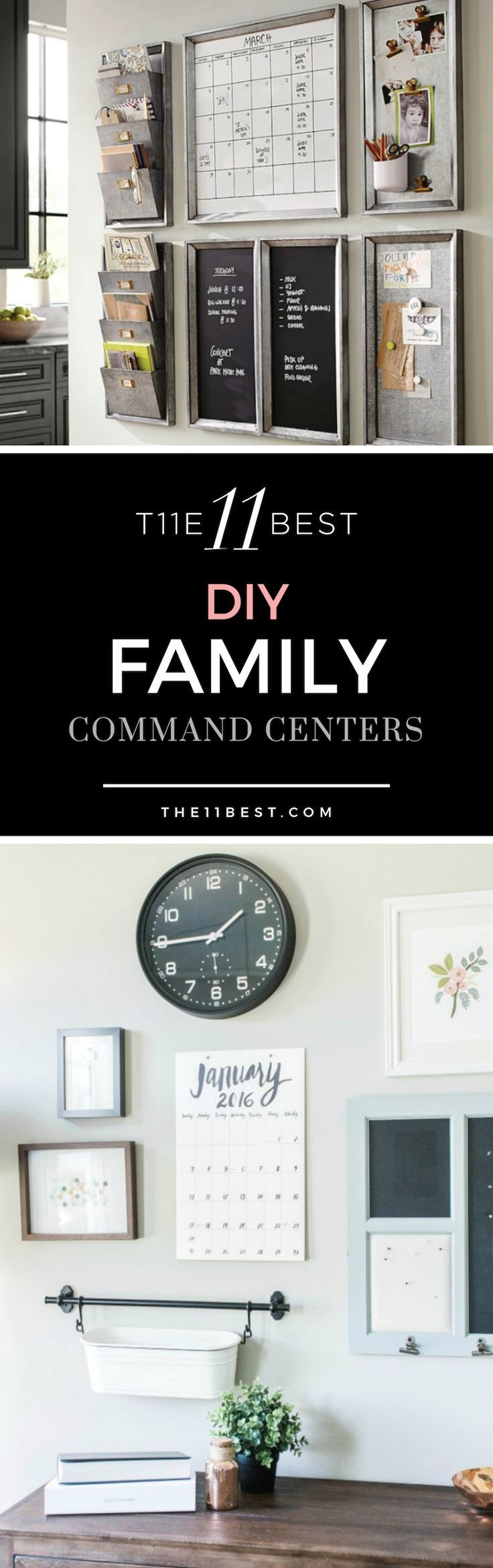 DIY Family Command Center and Family Organization ideas. Office Decor. Family office.