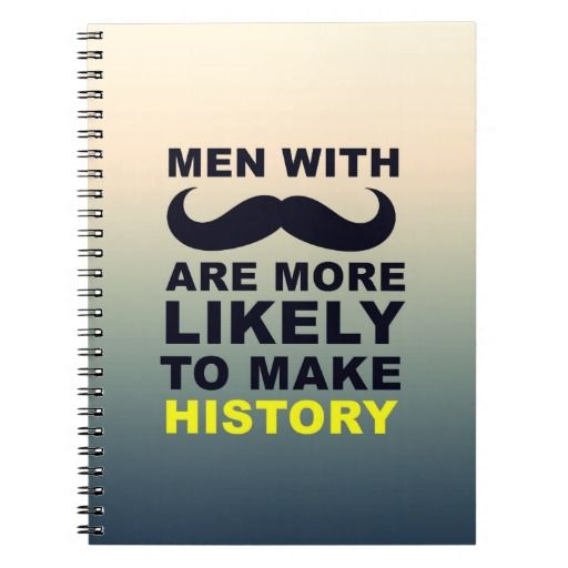 Cool Mustache Quote Typography Spiral Notebook