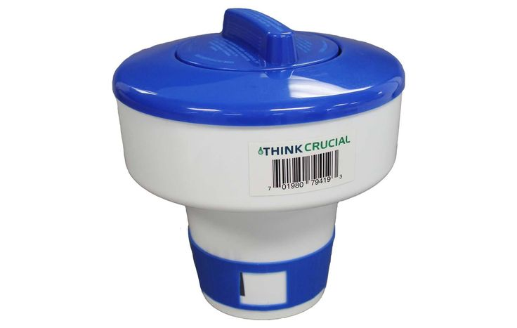 Floating Pool Chemical Dispenser, Fits 6 3 inch Tablets
