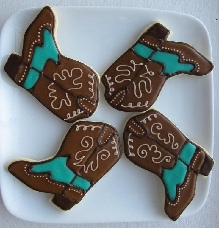 Cowboy Book Cookies | Cowboy Party | Pinterest