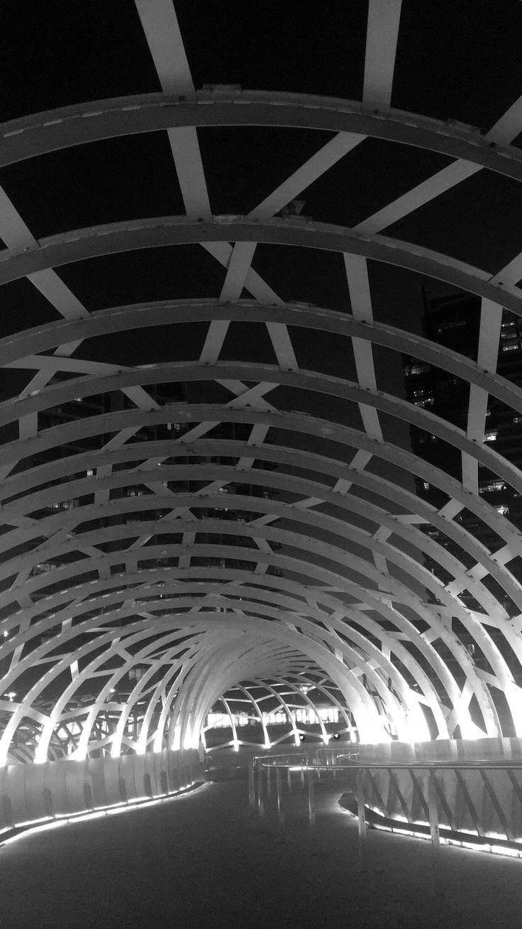 The Webb bridge, south wharf.  Instagram @gypsyrose.xo