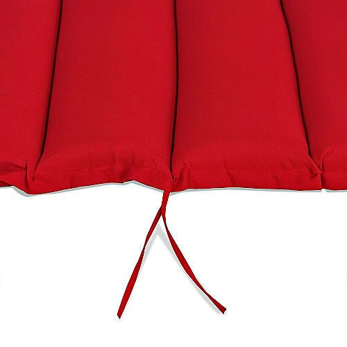 Red Waterproof Sun Lounger Cushion Pad With Pillow Curved Outdoor Sun Bed Cover #SmartDealsMarket