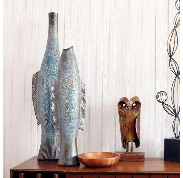 Elegant Nautical Decor: This Fish Vase Takes An Elegant Approach To A Whimsical