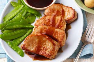 Côtelettes de porc glacées à l'érable et au balsamique - Kraft Canada