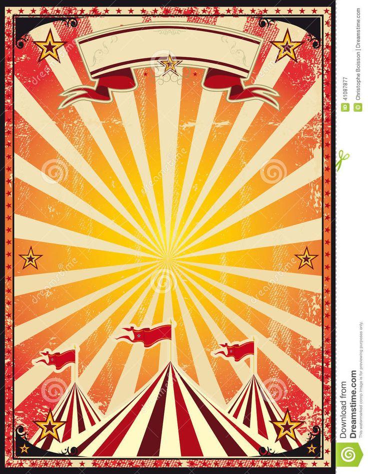 circus carnival posters