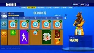 Fortnite Season 5 Update New Tier 100 Max Battle Pass Skins