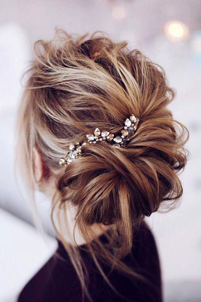 39 Best Pinterest Wedding Hairstyles Ideas Wedding Forward Messy Wedding Hair Hair Styles Wedding Hair Down