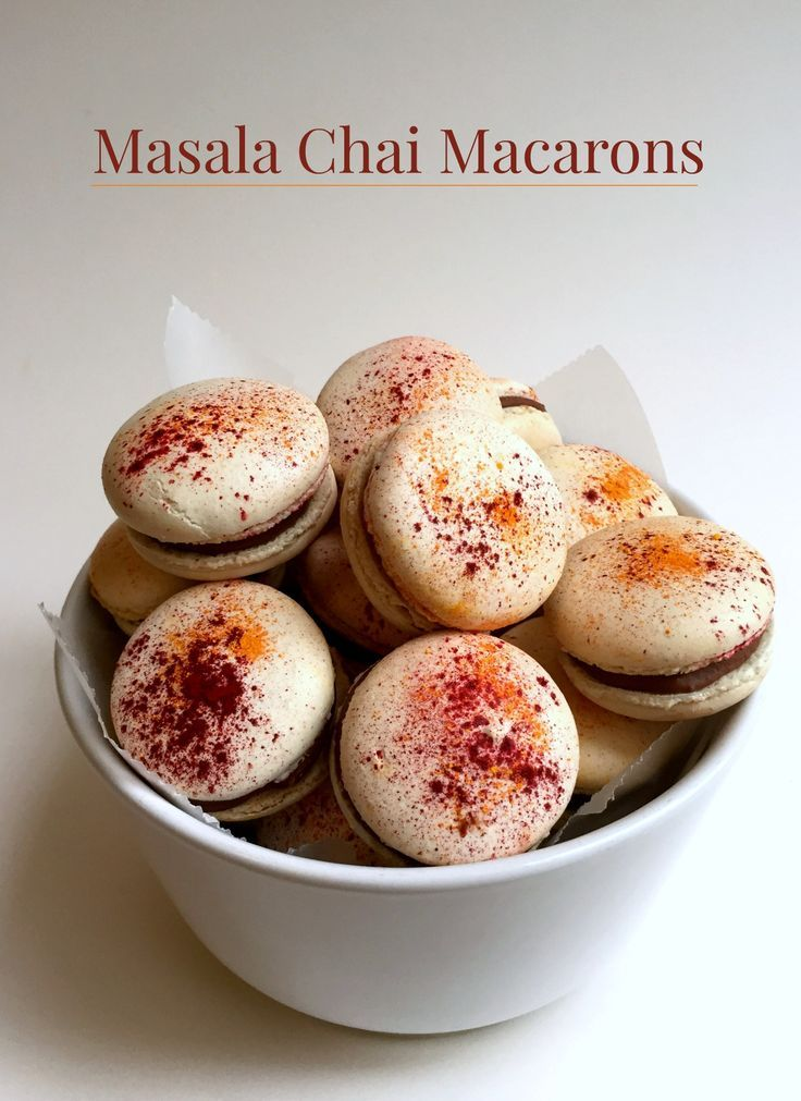 Masala Chai Macarons for #MacaronDay #JourduMacaron