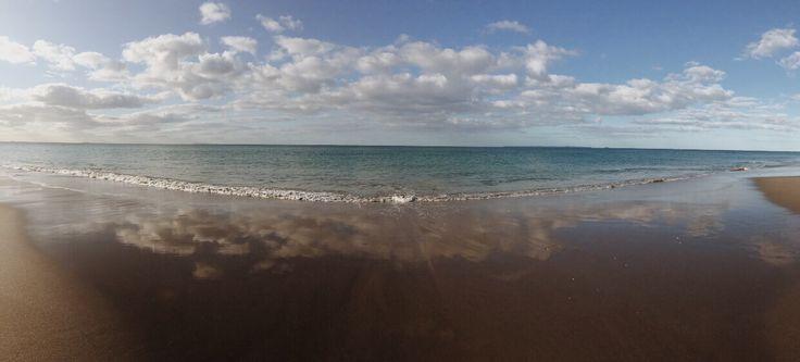 Reflecting beaches Papamoa Beach New Zealand