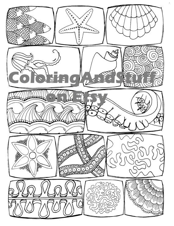 fish themed coloring pages - photo#25