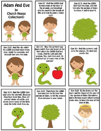 Adam and Eve Free Mini Booklet Printable -Sunday School Crafts For Kids. Two different templates to print out to make the little booklet.